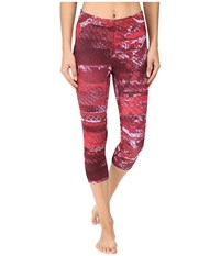 The North Face Motus Capri Tights Ii Biking Red Reptile Print Women's Capri