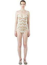 All That Remains Honey Zigzag Swimsuit White