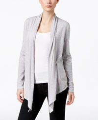 Lucky Brand Asymmetrical Hem Wrap Heather Grey