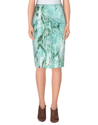 Just Cavalli Skirts Knee Length Skirts Women Light Green