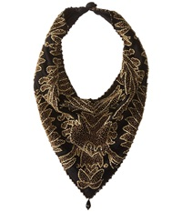 Mary Frances Roaring 20'S Jeweled Scarf Black Brown Scarves