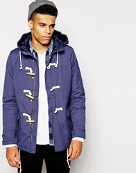 Native Youth Padded Duffle Coat Navy