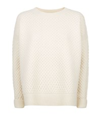 Vince Textured Boat Neck Sweater Female White