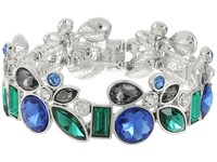 Guess Mixed Stone Stretch Bangle Bracelet Silver Light Sapphire Crystal Bracelet Multi