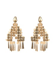 Aurelie Bidermann Marella Dangling Yellow Gold Plated Earrings