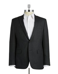 Dkny Wool Two Button Blazer Grey