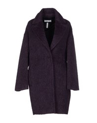 Caractere Coats And Jackets Coats Women Deep Purple