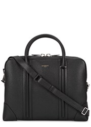 Givenchy Black Grained Leather Briefcase