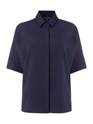 Pied A Terre Textured Shirt Navy