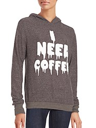 Wildfox Couture I Need Coffee Hoodie Espresso