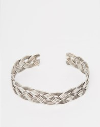 Asos Plaited Arm Cuff Silver