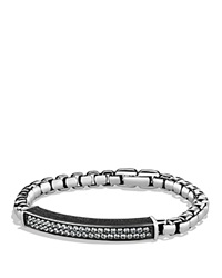David Yurman Pave Id Bracelet With Gray Sapphires Silver Gray