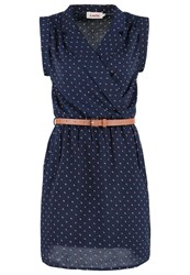 Louche Zinamoon Summer Dress Navy Dark Blue