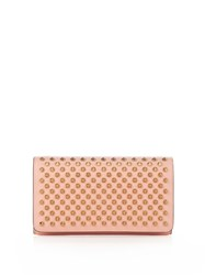 Christian Louboutin Macaron Spike Embellished Leather Wallet Pink