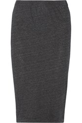 Raquel Allegra Jersey Pencil Skirt Gray