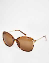 Esprit Oversized Sunglasses With Metal Detail Brown