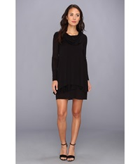 Kensie Cowl Neck Dress Black Women's Dress