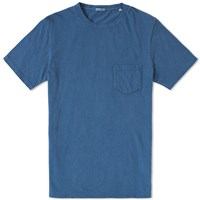 Blue Blue Japan Hand Dyed Cotton Crew Neck Tee