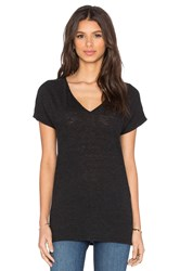 Lanston Oversized V Neck Tee Black