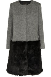 Raoul Faux Fur Trimmed Wool Tweed Coat
