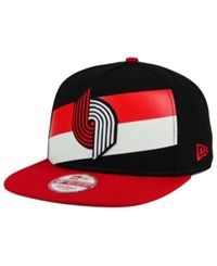 New Era Portland Trail Blazers Logo Mural Snap 9Fifty Cap Black Red White