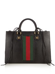 Gucci Animalier Grained Leather Tote Black