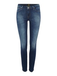 Lee Scarlett Skinny Jean In Night Sky Denim Mid Wash
