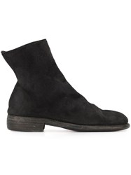Guidi Lateral Zip Ankle Boots Black
