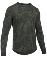Under Armour Men's Waffle Texture Long Sleeve Camo Print Shirt Artillery Green