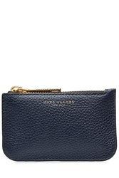 Marc Jacobs Leather Gotham Key Pouch Blue