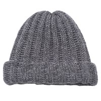 French Connection Chunky Tuffy Beanie Grey Marl