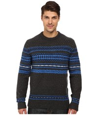 French Connection Feltet Fairisle Knits Sweater Daphne Charcoal Melange Men's Sweater Black