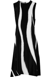 3.1 Phillip Lim Petunia Skunk Printed Silk Dress Black