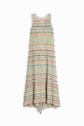 Missoni Lurex Ruffle Dress Gold