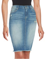 Jessica Simpson Haven Distressed Jean Skirt Aurora