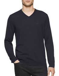 Calvin Klein Merino Wool Sweater Roma Blue