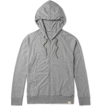 Paul Smith Mith Melange Cotton Jerey Pyjama Hoodie Gray