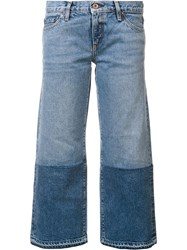 Simon Miller Two Tone Cropped Jeans Blue