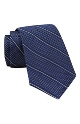 Gitman Brothers Vintage Men's Stripe Woven Silk Tie Navy