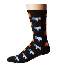 Huf No Friends Crew Sock Black Men's Crew Cut Socks Shoes