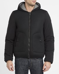 Armani Jeans Black And Grey Mesh Hood Reversible Jacket