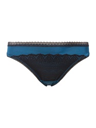 Wonderbra Glam Cleavage Thong Blue