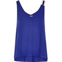 River Island Womens Blue Sporty Strap Vest
