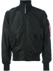 Alpha Industries High Collar Bomber Jacket Black