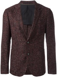 Z Zegna Flocked Pattern Blazer Red