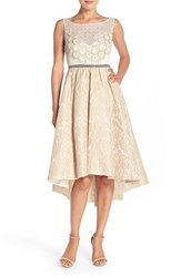 Women's Tracy Reese Sequin Applique Woven Fit And Flare Dress