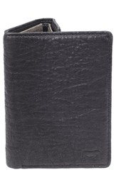 Men's Will Leather Goods 'Twist' Leather Wallet Black Black Grey