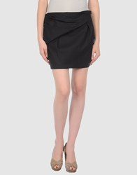 Anne Valerie Hash Skirts Mini Skirts Women Dark Blue