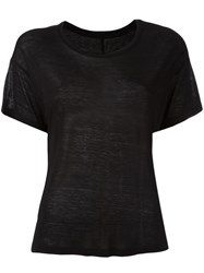 Unravel Short Sleeve Loose Fit T Shirt Black