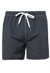 Arena Fundamentals Swimming Shorts Asphalt White Grey